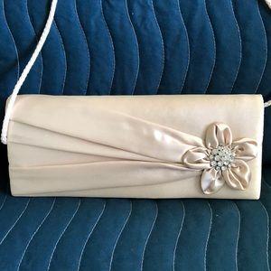 Jessica McClintock Bags - Cream Satin Evening Bag